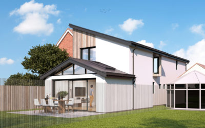 New Build Contemporary Style Dwelling House in Biggin Hill, Kent (currently in for Planning)