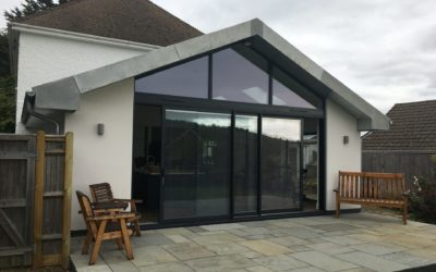 Kitchen Extension to Detached property in Wannock, Sussex
